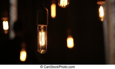 Incandescent lamps in motion, light