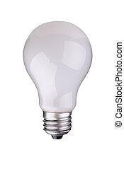 lightbulb - incandescent lightbulb isolated over white with...