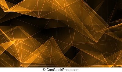 incandescent, or, bords, cristal, polygone, poly, gradient, ...