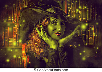 incantation - Fairy wicked witch in the wizarding lair....