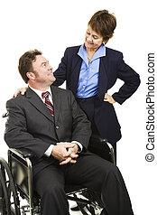 incapacidad, en, empresa / negocio