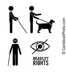 incapacidade, desenho, direitos
