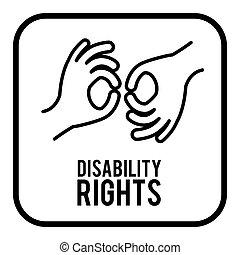 incapacità, disegno, diritti