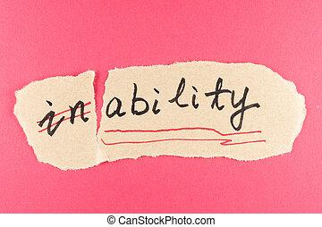 incapacité, capacité