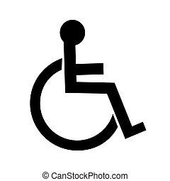 incapacitado, ícone
