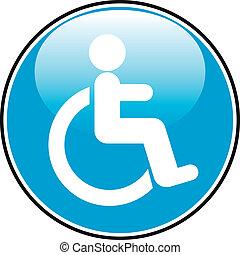 incapacitado, ícone, sinal