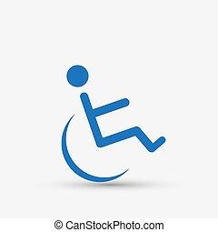 incapacitado, desvantagem, ícone