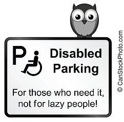 incapacitado, estacionamento