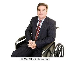 incapacitado, homem negócios, -, dignidade