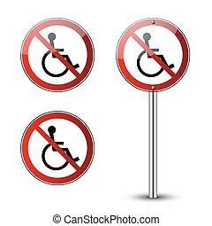 incapacitado, não, sinais