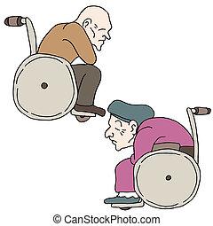 incapacitado, pessoas anciãs