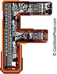 Inca?s font. Vector Illustration