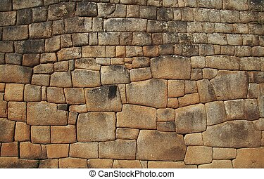 Incas setting 1 - Inca wall in the city Macchu-Picchu, Peru