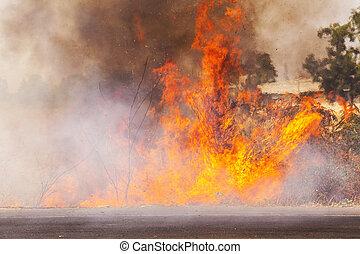 incendio descontrolado