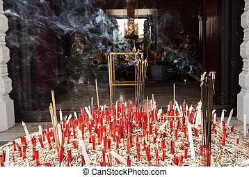Incense burner at pillar province