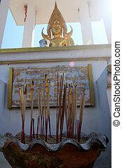 Incense burner at the temple.