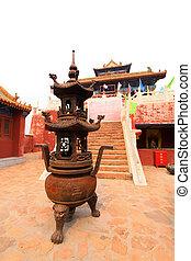 incense burner in a Taoist temple,