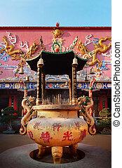 Incense Burner, Ten Thousand Buddhas, Hong Kong