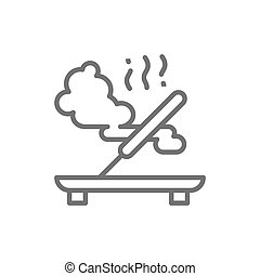 Incense, fragrance stick line icon. Isolated on white background