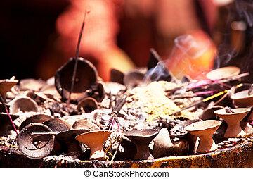 Incense - incense in buddhist temple