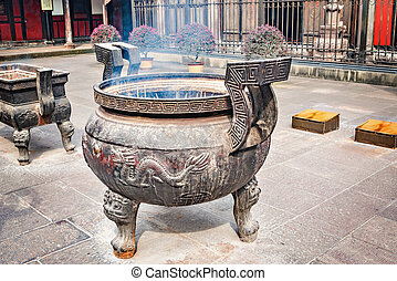 Incense pot on the monastery territory.