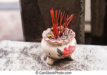 Incense sticks. Aromatherapy