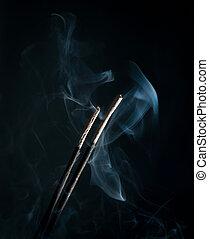 incenso, fumo