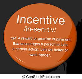 Incentive Definition Button Shows Encouragement Enticing And...