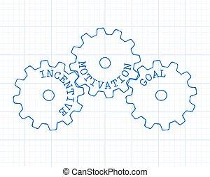 Incentive Gear Wheels Graph Paper
