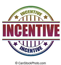 incentive stamp - incentive grunge stamp with on vector ...