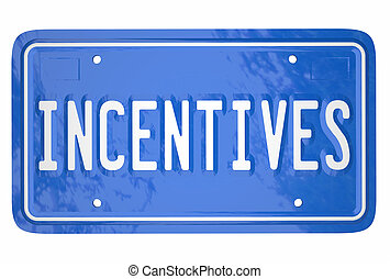 Incentives Attract Car Shoppers Buy Auto Vehicle Rebate License Plate