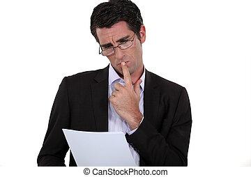 incertain, sur, termes, avocat, contrat