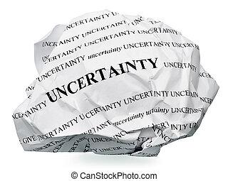 incertitude, fin