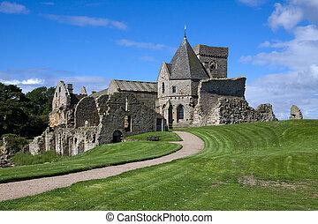 Inchcolm Island Abbey - Inchcolm Abbey on the island of...