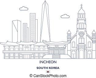 Incheon Linear City Skyline, South Korea
