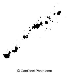 inchiostro, nero, blots