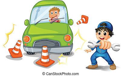 incidente automobile, meccanico