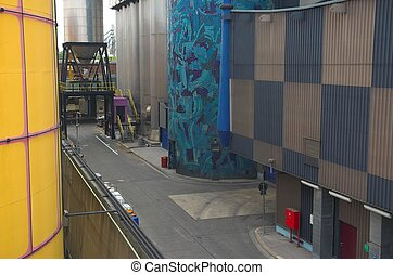 Incineration Plant - Artistic waste incineration and heating...