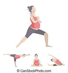 incinta, yoga, donne