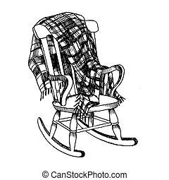 Sedia dondolo illustrazioni e clipart sedia Sedia a dondolo oscillante