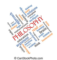 incliné, concept, mot, nuage, philosophie