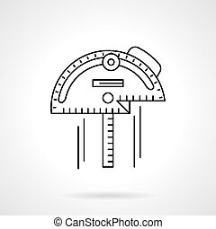 Inclinometer flat thin line vector icon - Different tools...
