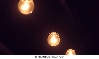 included light bulb in a dark room