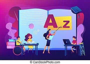 Inclusive education concept vector illustration