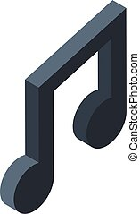 Inclusive education musical note icon, isometric style