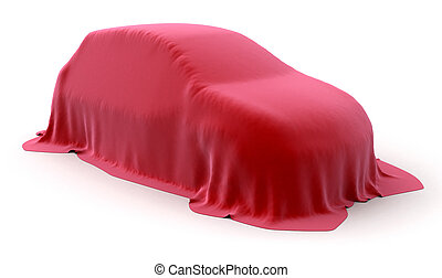 Incognito car. Image with clipping path