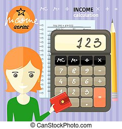Income calculation concept