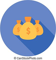 Income, earning, pay icon vector image.Can also be used for...