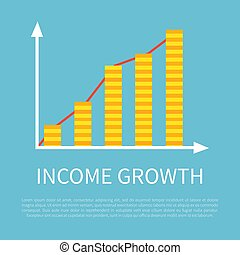 Income Growth Visual Graphic on Promotional Banner