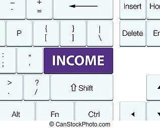 Income purple keyboard button